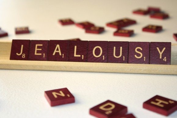 jealousy scrabble pieces