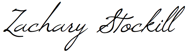 Zachary Stockill signature